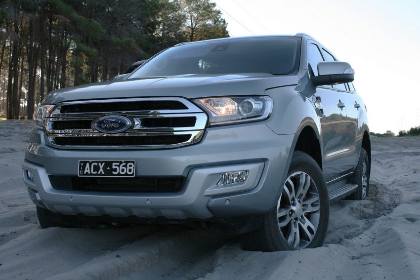 2016 Ford Everest Trend in sand front - FORD EVEREST REVIEW